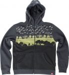 Spacecraft Landscape Hoody [Heather Charcoal]