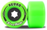 Retro FreeRide Reflex Longboard Wheels Lime 72mm/80a