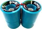 Landyachtz Monster Hawgs Longboard Wheels 76mm Aqua