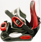 K2 Plasma V6 Bindings Black Red - Small