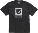 Burton Boys Logo Vertical Tee [Black]