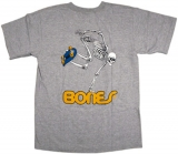 Powell Skateboard Skeleton Tee Grey