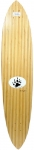 "Barfoot Bamboo Pin Tail 44"" Signed Longboard"